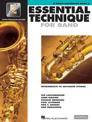 Essential Technique for Band (Intermediate to Advanced Studies) Book 3 - Tenor Saxophone - Book/Media Online (EEi)