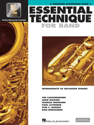 Essential Technique for Band (Intermediate to Advanced Studies) Book 3 - Baritone Saxophone - Book/Media Online (EEi)