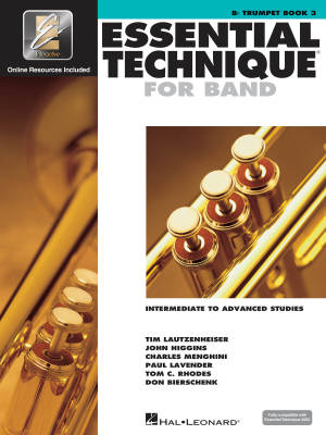 Essential Technique for Band (Intermediate to Advanced Studies) Book 3 - Trumpet - Book/Media Online (EEi)