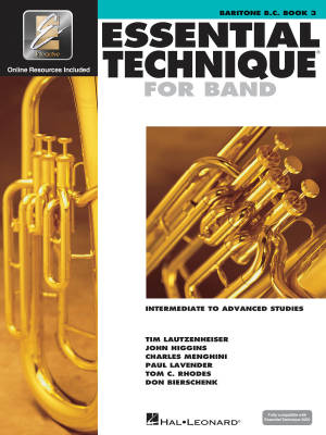 Essential Technique for Band (Intermediate to Advanced Studies) Book 3 - Baritone B.C. - Book/Media Online (EEi)