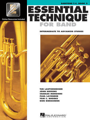 Essential Technique for Band (Intermediate to Advanced Studies) Book 3 - Baritone T.C. - Book/Media Online (EEi)