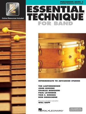 Essential Technique for Band (Intermediate to Advanced Studies) Book 3 - Percussion - Book/Media Online (EEi)