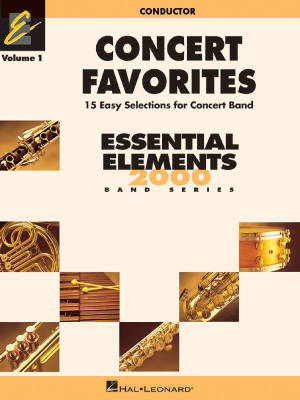 Concert Favorites Vol. 1 (15 Easy Selections for Concert Band) - Conductor - Book