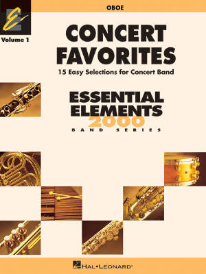 Concert Favorites Vol. 1 (15 Easy Selections for Concert Band) - Oboe - Book