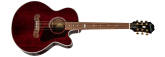 Epiphone - J-200EC Studio Parlor Acoustic/Electric - Wine Red