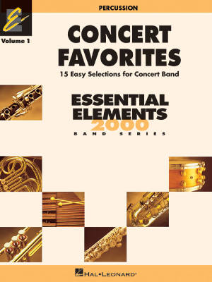 Concert Favorites Vol. 1 (15 Easy Selections for Concert Band) - Percussion - Book
