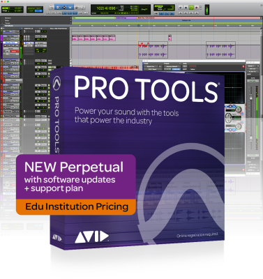 Pro Tools Software Perpetual License for Academic Institutions w/1-Year Upgrades and Support Plan - Download