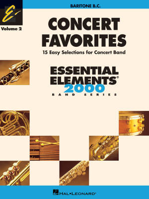 Concert Favorites Vol. 2 (15 Easy Selections for Concert Band) - Baritone B.C. - Book