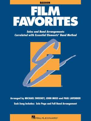 Essential Elements Film Favorites - Sweeney/Lavender/Moss - Bassoon - Book