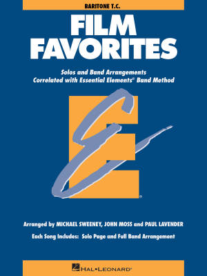 Essential Elements Film Favorites - Sweeney/Lavender/Moss - Baritone T.C. - Book