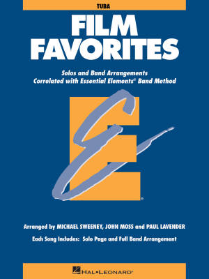 Essential Elements Film Favorites - Sweeney/Lavender/Moss - Tuba - Book