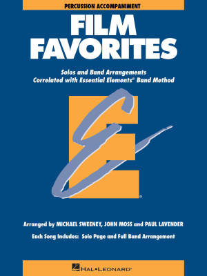 Essential Elements Film Favorites - Sweeney/Lavender/Moss - Percussion - Book