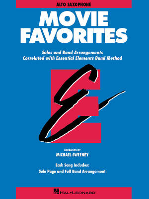 Essential Elements Movie Favorites - Sweeney - Alto Saxophone - Book
