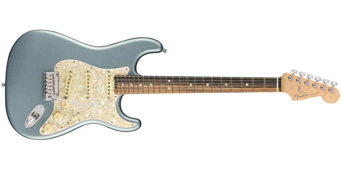 Fender Musical Instruments - American Elite Stratocaster, Ebony Fingerboard  - Satin Ice Blue Metallic
