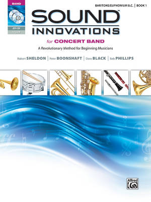 Sound Innovations for Concert Band, Book 1 - Baritone/Euphonium B.C. - Book/CD/DVD