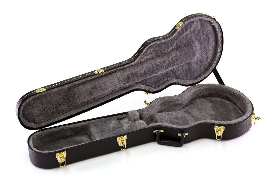 yorkville sound hardshell les paul case long mcquade musical instruments. Black Bedroom Furniture Sets. Home Design Ideas