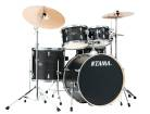 Tama - Imperialstar 5-Piece Complete Drum Set (22,10,12,16,SD) w/Hardware & Cymbals - Black Oak Wrap
