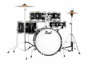Pearl - Roadshow Jr. 5-Piece Drum Kit with Cymbals and Hardware - Jet Black