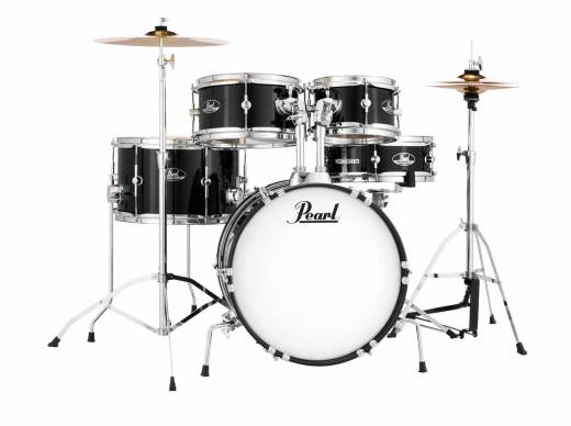Roadshow Jr. 5-Piece Drum Kit with Cymbals and Hardware - Jet Black