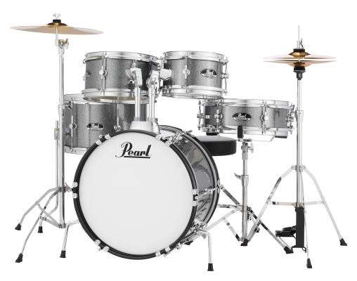 Roadshow Jr. 5-Piece Drum Kit with Cymbals and Hardware - Grindstone Sparkle