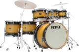 Tama - CL72S Superstar Classic Maple 7-Piece Shell Pack - Black Sunburst Lacebark Pine