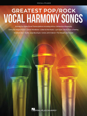 Greatest Pop/Rock Vocal Harmony Songs - Vocal/Piano - Book