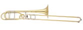S. E. Shires - Q-Series Large Bore Professional Trombone with Rotary F-Attachment - Yellow-Brass Bell