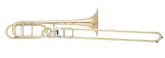 S. E. Shires - Q-Series Large Bore Professional Trombone with Rotary F-Attachment - Gold-Brass Bell