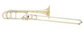 S. E. Shires - Q-Series Large Bore Professional Trombone with Axial F-Attachment - Yellow-Brass Bell