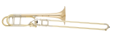S. E. Shires - Q-Series Large Bore Professional Trombone with Axial F-Attachment - Gold-Brass Bell