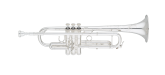 S. E. Shires - Q Series Professional Trumpet in Bb with Reverse Leadpipe - Silver Plated