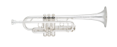 S. E. Shires - Q Series Professional Trumpet in C with Reverse Leadpipe - Silver Plated