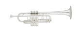 S. E. Shires - Q Series Professional Trumpet in C - Silver Plated