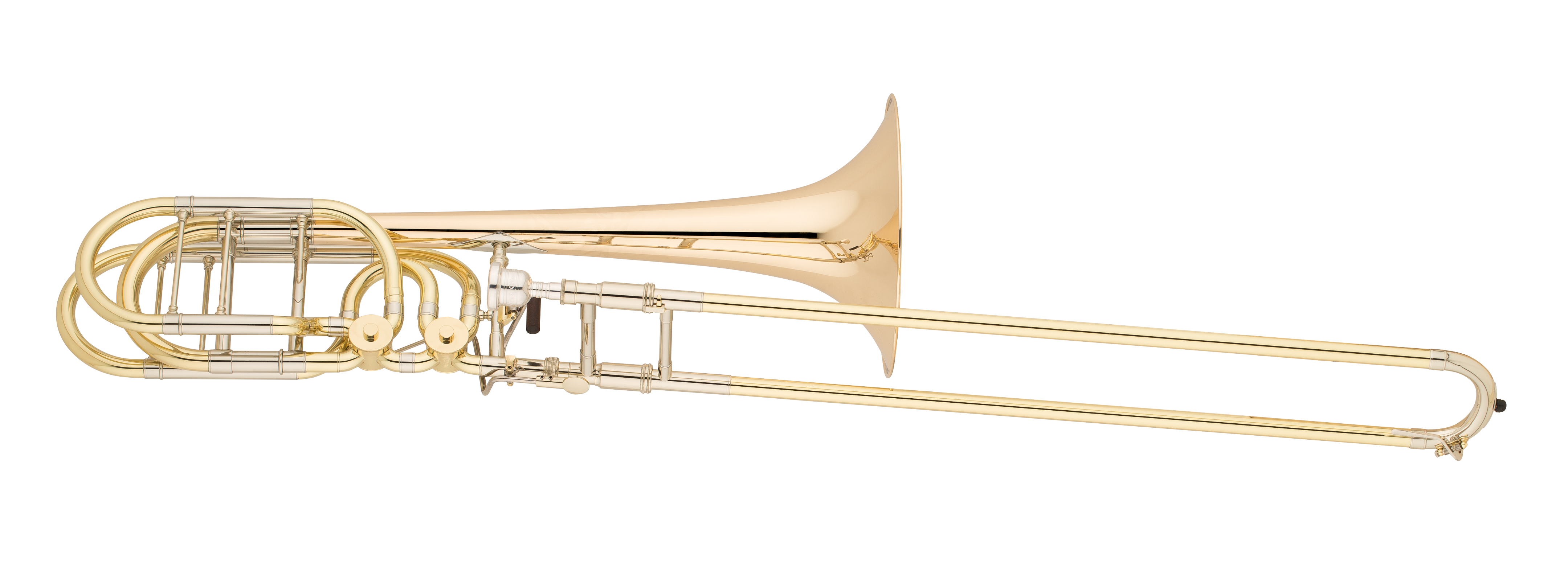 Q Series Professional Bass Trombone with Rotary F/Gb Attachment - Gold  Brass Bell