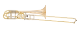 S. E. Shires - Q Series Professional Bass Trombone with Rotary F/Gb Attachment - Gold Brass Bell