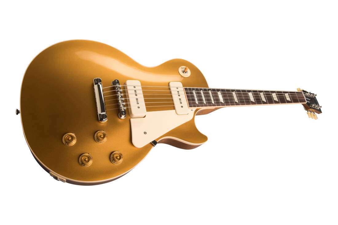 gibson les paul standard 50s w p90 pickups gold top long mcquade musical instruments. Black Bedroom Furniture Sets. Home Design Ideas