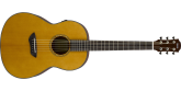 Yamaha - CSF-TA TransAcoustic Series Spruce/Mahogany Parlour Guitar with Electronics/FX Controls and Bag
