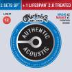 Martin Guitars - Authentic Acoustic 92/8 Phosphor Bronze Strings, Light - 3 Pack w/2x MA540, 1x MA540T