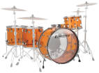 Ludwig Drums - Vistalite Zep Shell Pack (26,14,16,18, SN) - Amber