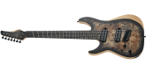 Schecter - Reaper-7 Multi-Scale Left-Handed - Satin Charcoal Burst