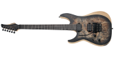Schecter - Reaper-6 FR Electric Guitar, Left-Handed - Satin Charcoal Burst
