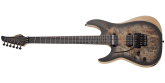 Schecter - Reaper-6 FR S Electric Guitar, Left-Handed - Satin Charcoal Burst