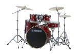 Yamaha - Stage Custom Birch 5-Piece Drum Kit (22,16,12,10, SN) with Hardware - Crimson