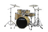 Yamaha - Stage Custom Birch 5-Piece Drum Kit (22,16,12,10, SN) with Hardware - Natural Wood