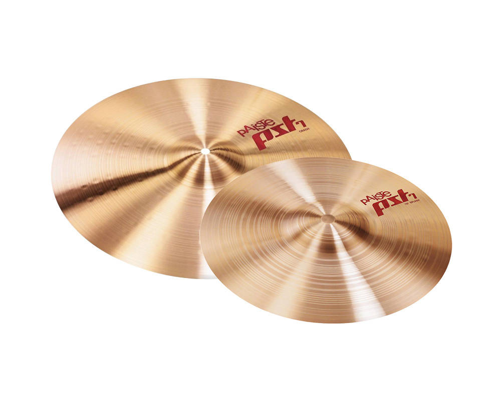 paiste pst7 16 39 39 crash and 10 39 39 splash cymbal pack long mcquade musical instruments. Black Bedroom Furniture Sets. Home Design Ideas