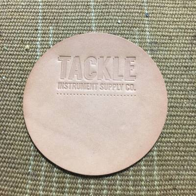 Large Leather Bass Drum Patch - Natural
