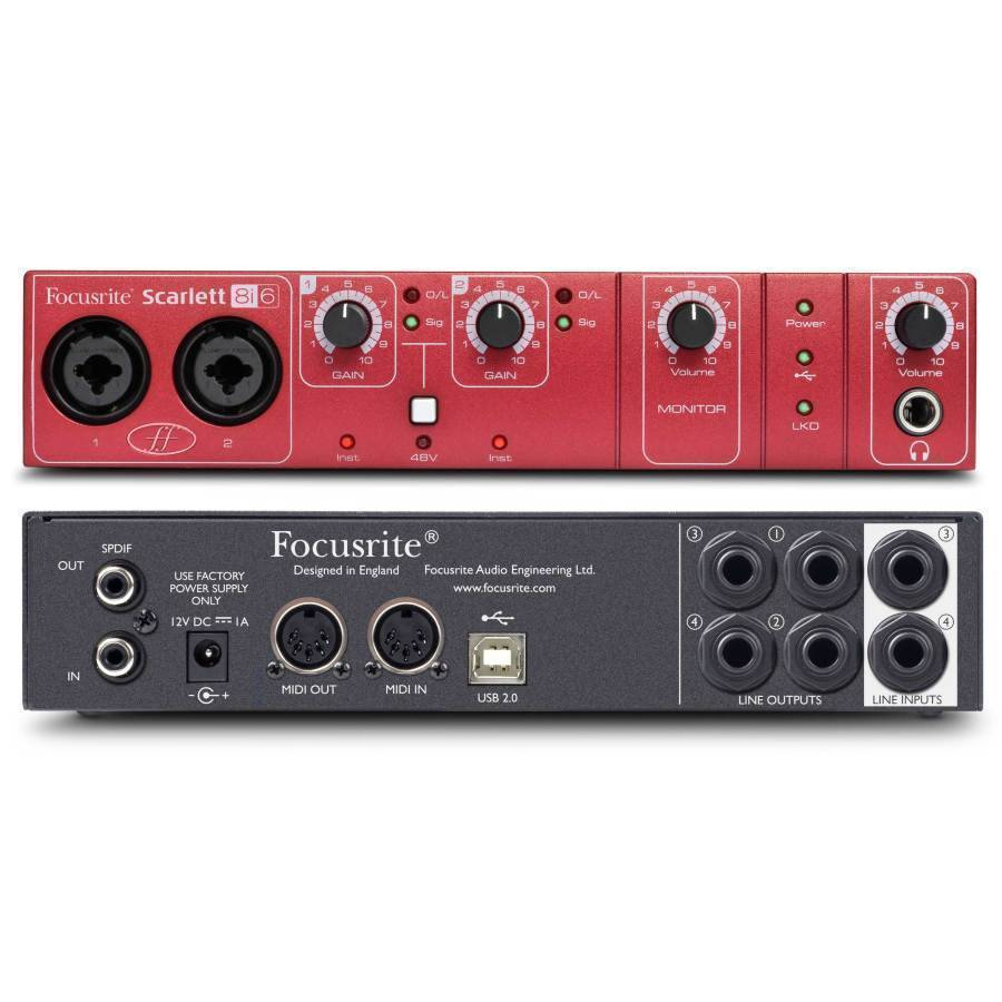 Focusrite Scarlett 24 96 8 In 6 Out Usb 2 0 Audio