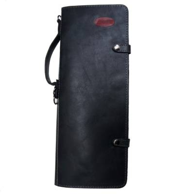 Handmade Leather Stick Case - Black