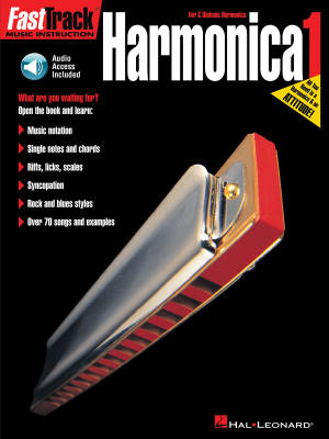 FastTrack Harmonica Method Book 1 - Neely/Downing - Book/Audio Online