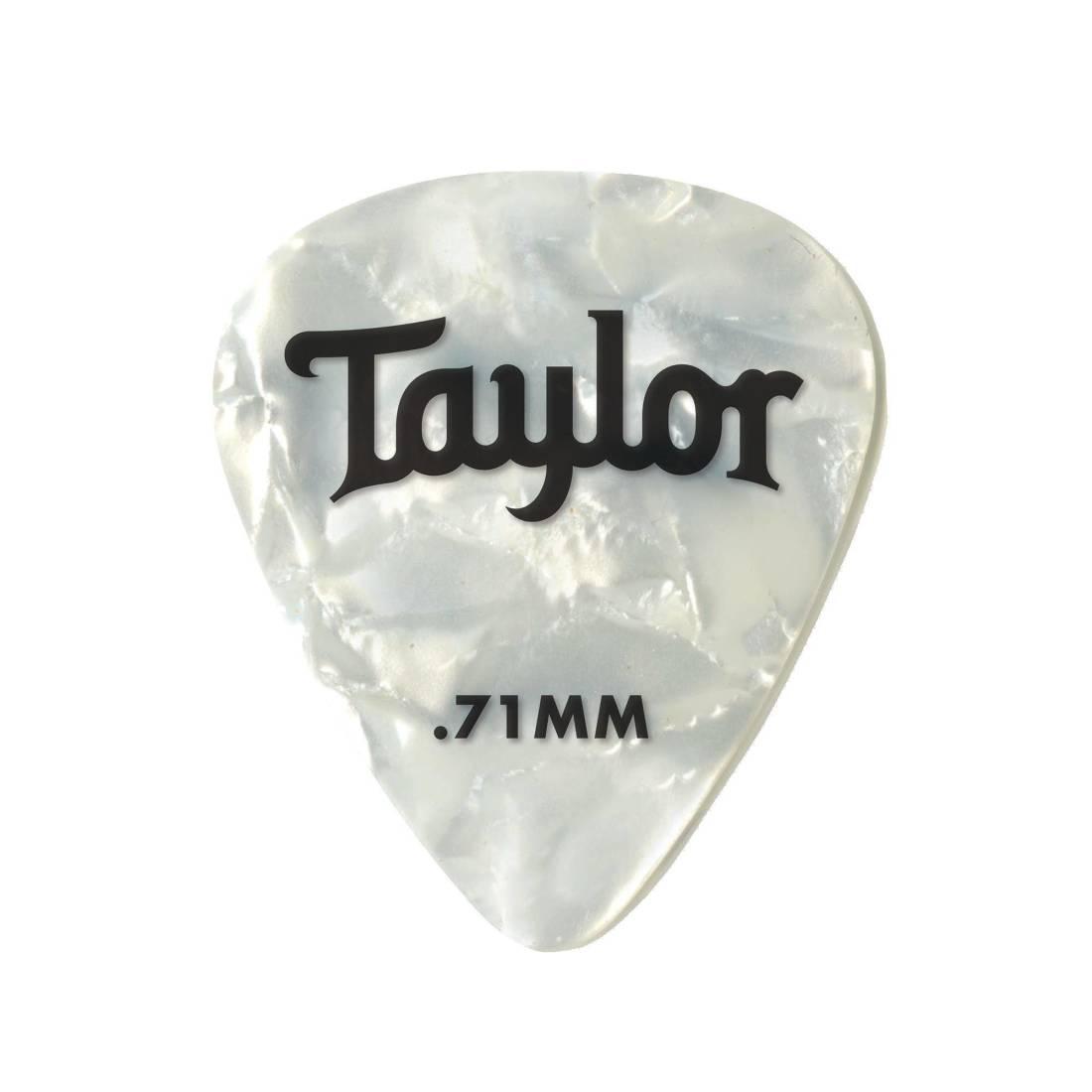 Gibson WHITE Pearl Picks Medium